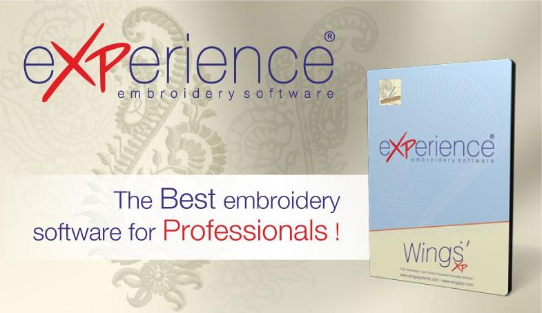 Wings' eXPerience Embroidery Software. Digtizing in dst, hus, pes, vip, art format. Compatible Tajima, Barudan, Singer, Pfaff, Husqvarna embroidery machine. Wilcom, Pulse, Tajima DGML