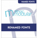 Renamed Modular and eXPereince embroidery fonts