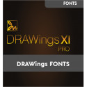 Renamed fonts for DRAWings