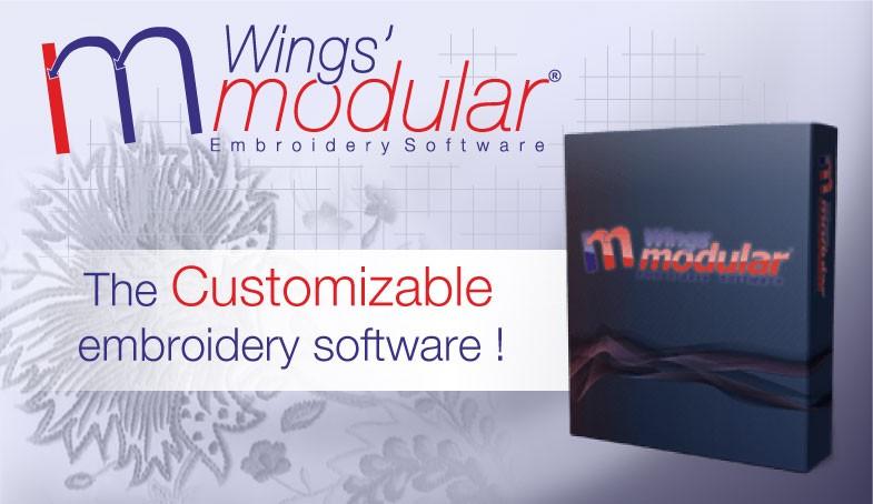 Wings' Modular Embroidery Software. digtizing in dst, hus, pes, vip, art format. Compatible Tajima, Barudan, Singer, Pfaff, Husqvarna embroidery machine. Wilcom, Pulse, Tajima DGML